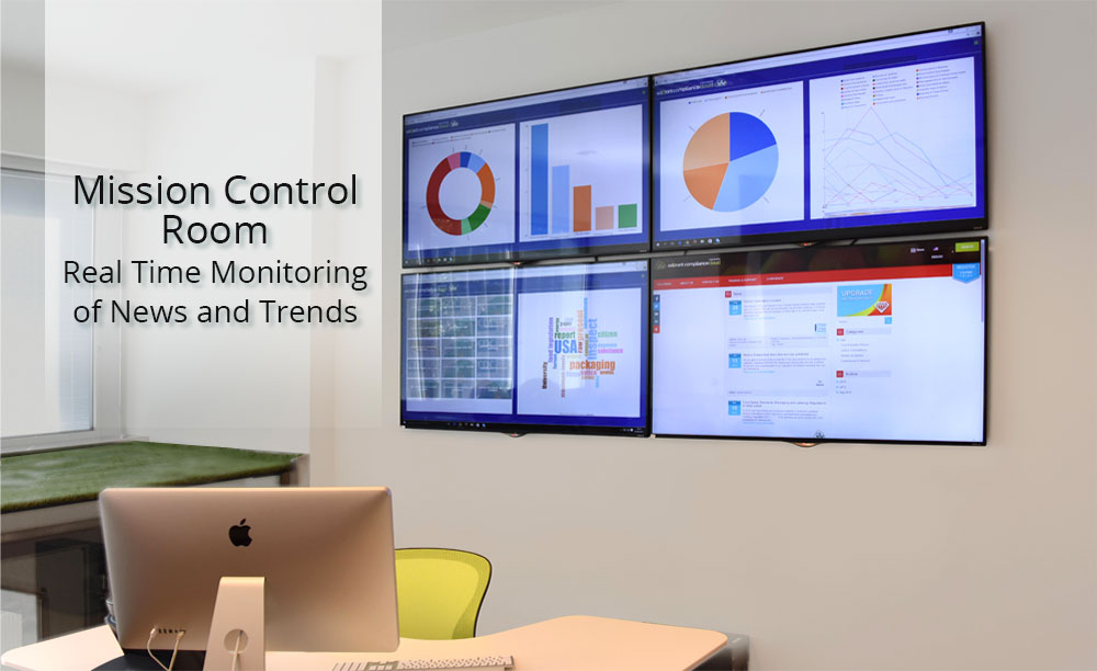 food news monitoring system control room