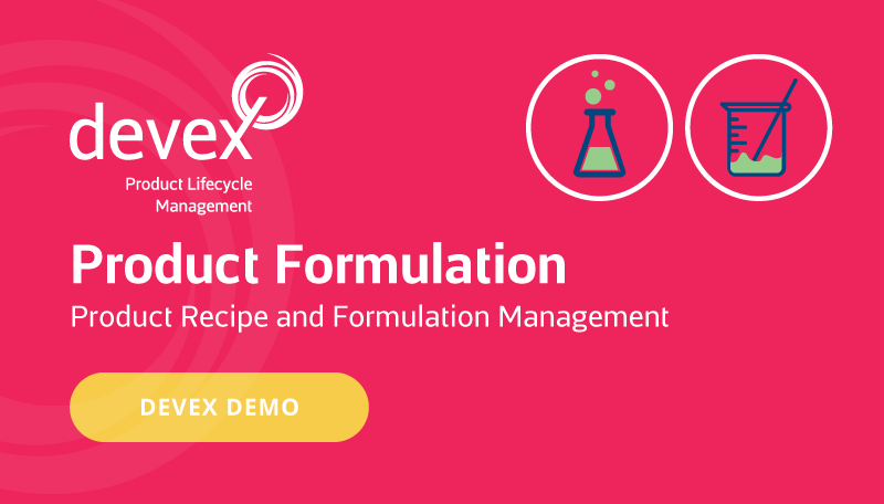 Selerant Devex PLM Product Formulation